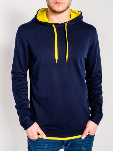navy blue || yellow