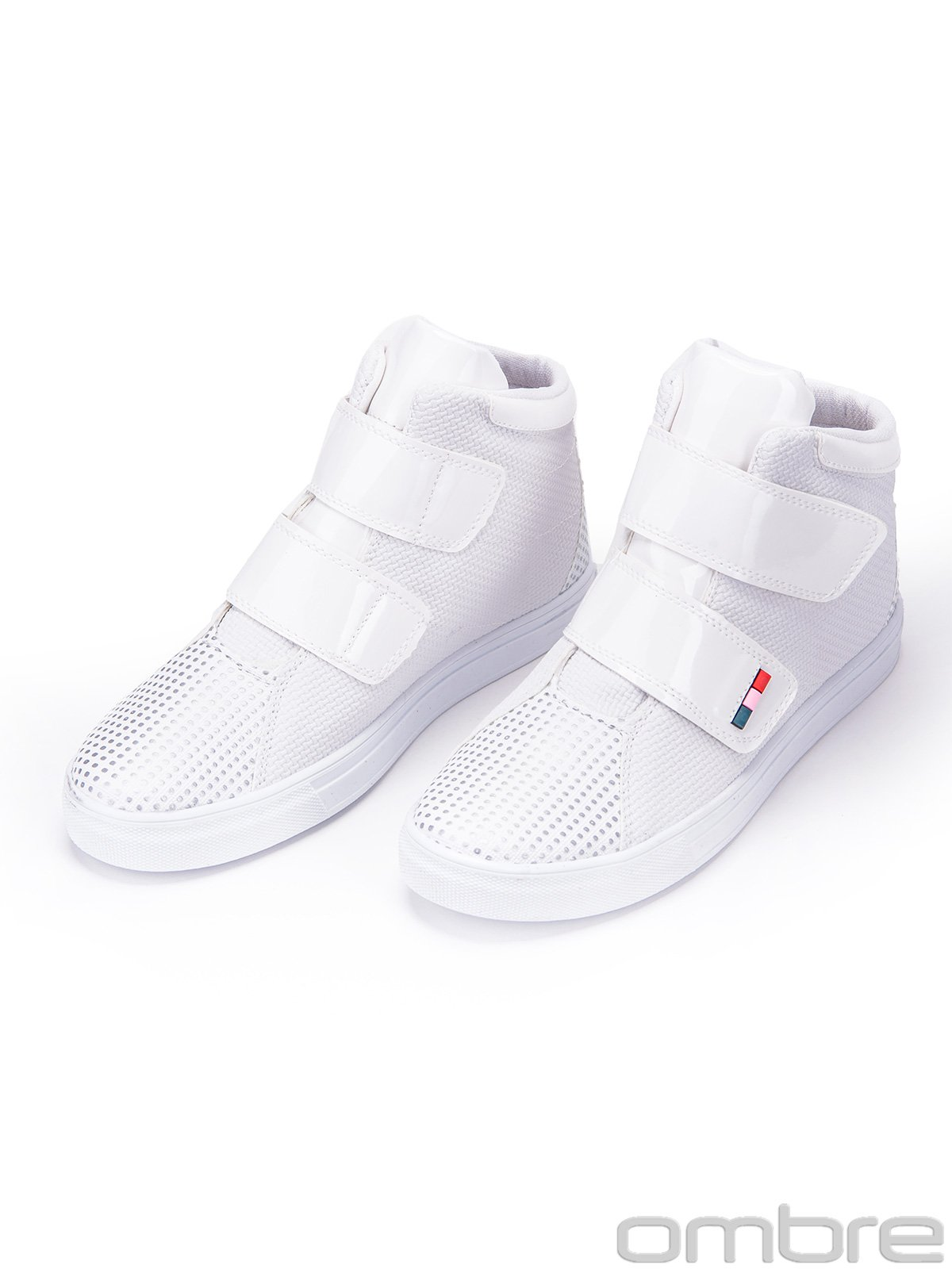Men's ankle-high trainers T039 - white
