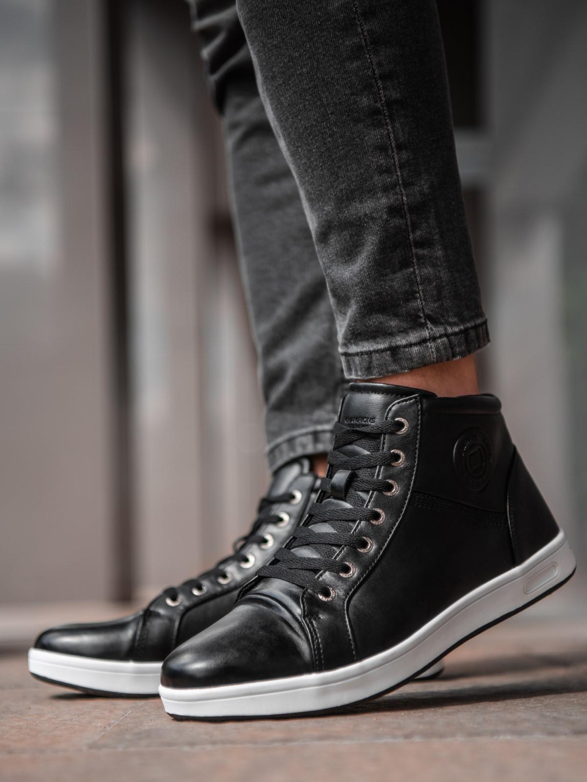Men's ankle shoes T328 - black   MODONE