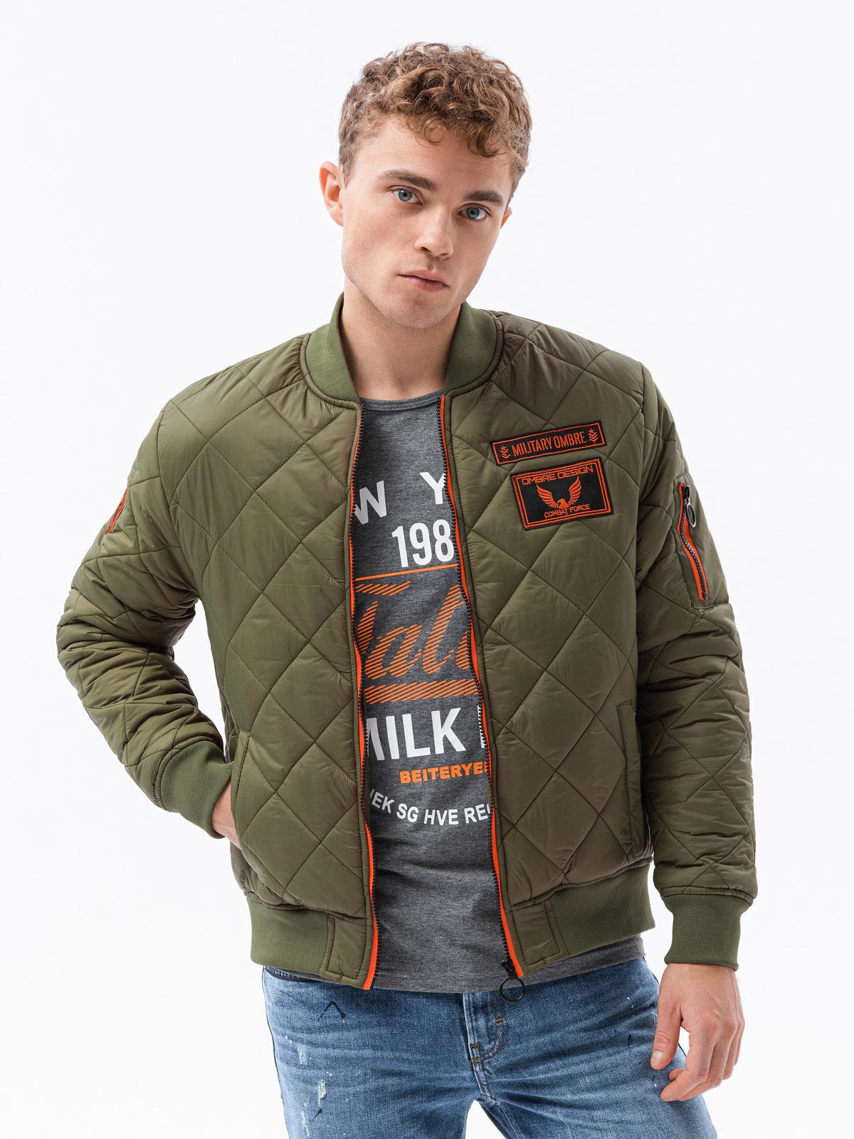 Men's mid season bomber jacket C357 olive | MODONE