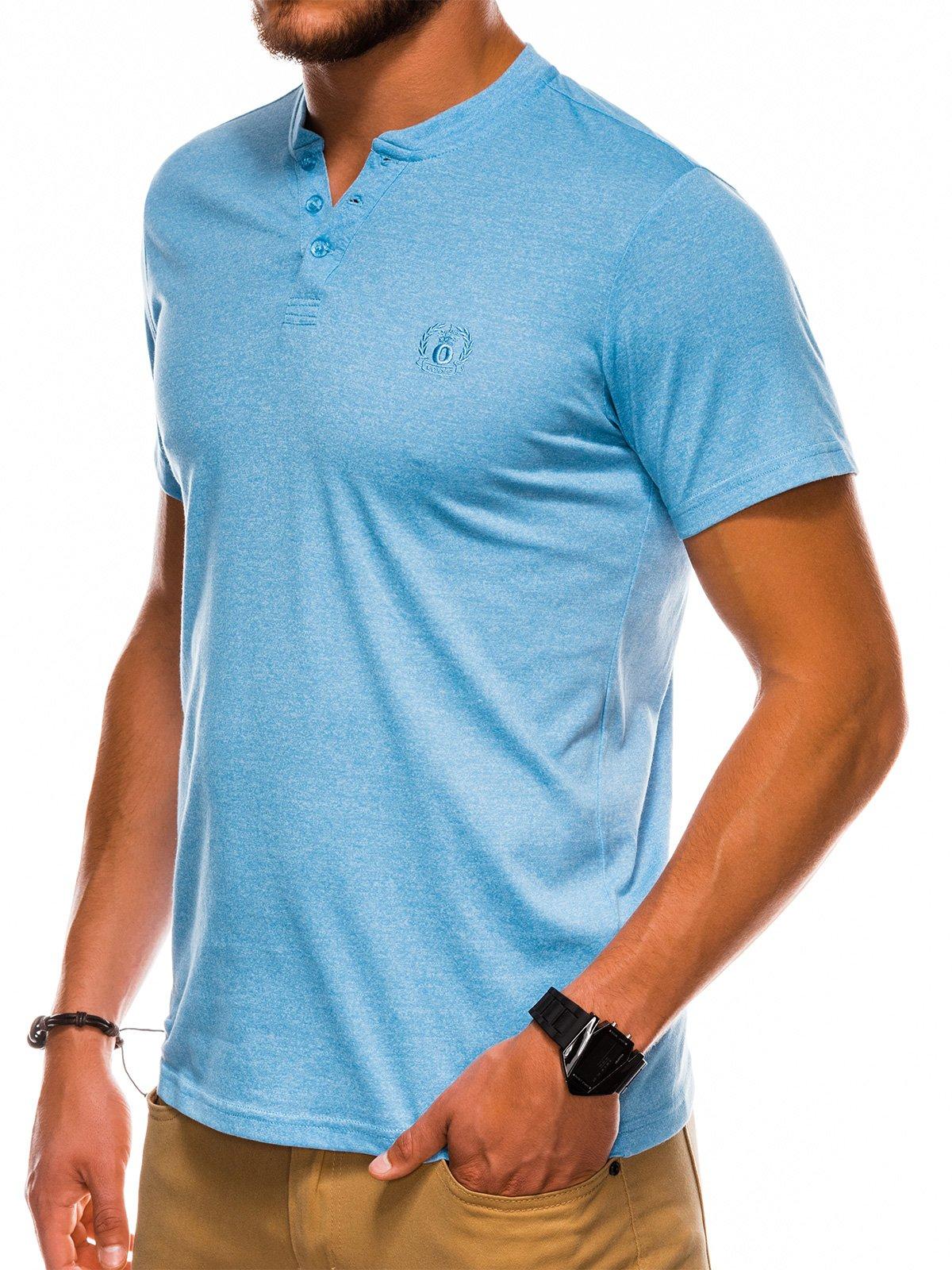 Mens plain t-shirt S1047 - light blue | MODONE wholesale