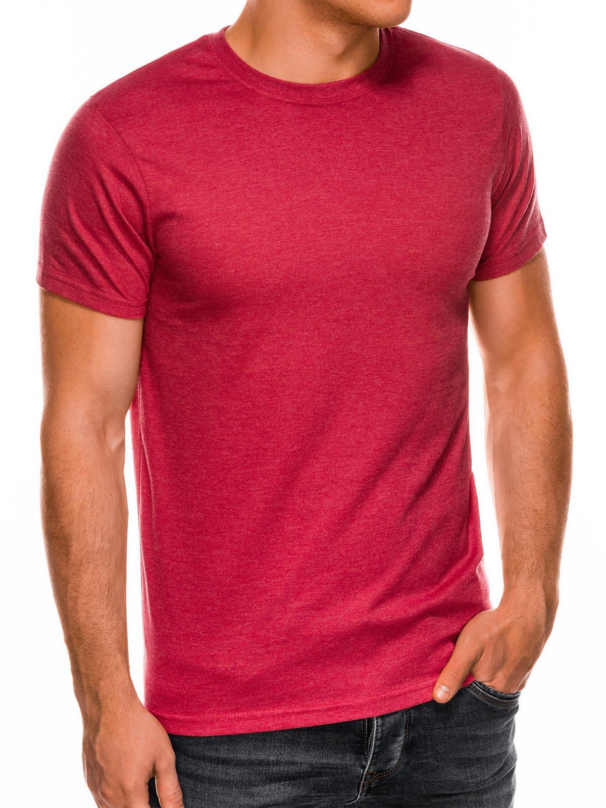 Men's plain t shirt S884 red melange   MODONE wholesale