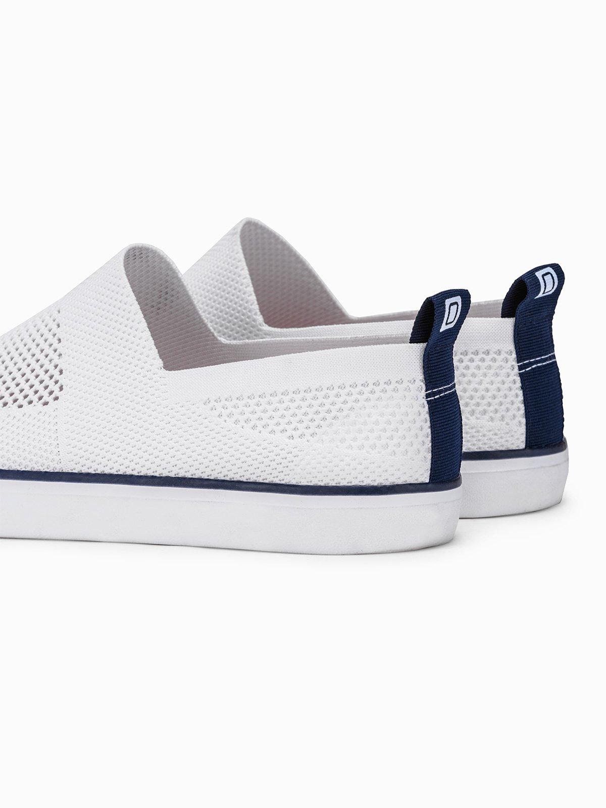 Men's slip on trainers T308 - white