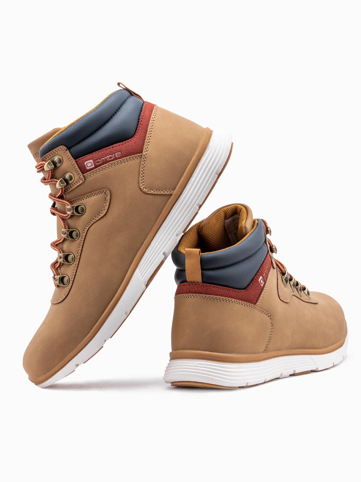 Men's winter shoes trappers T312 beige | MODONE wholesale