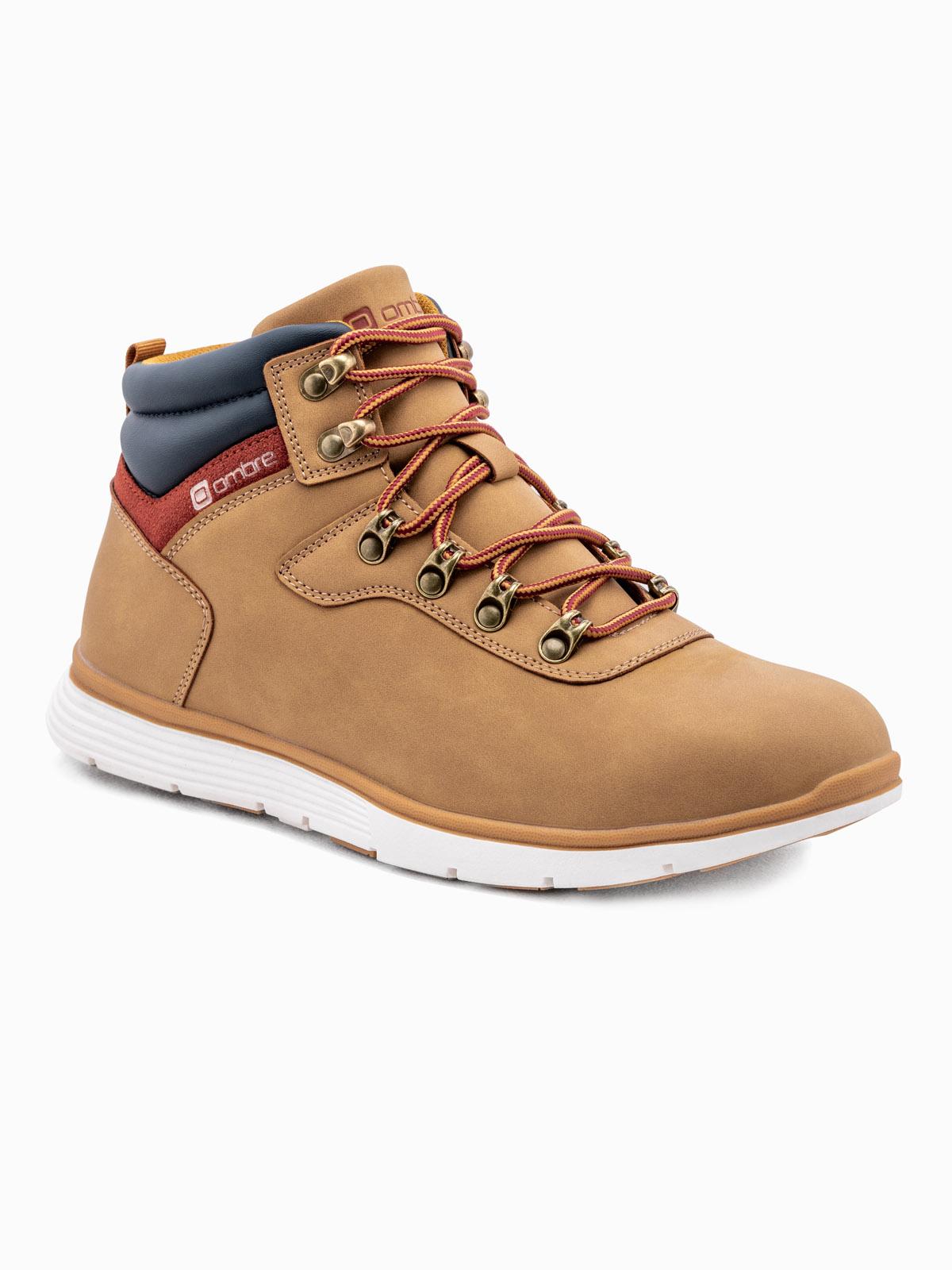 Men's winter shoes trappers T312 beige   MODONE wholesale