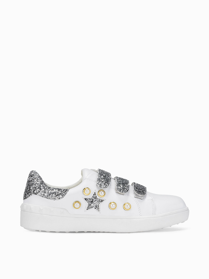 Women's white trainers LR164