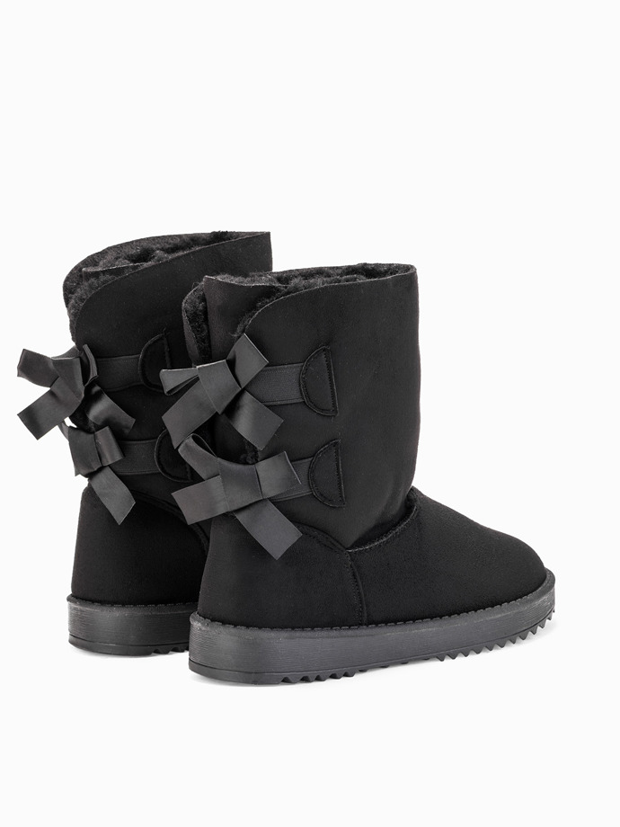 Boots with bows black lr086