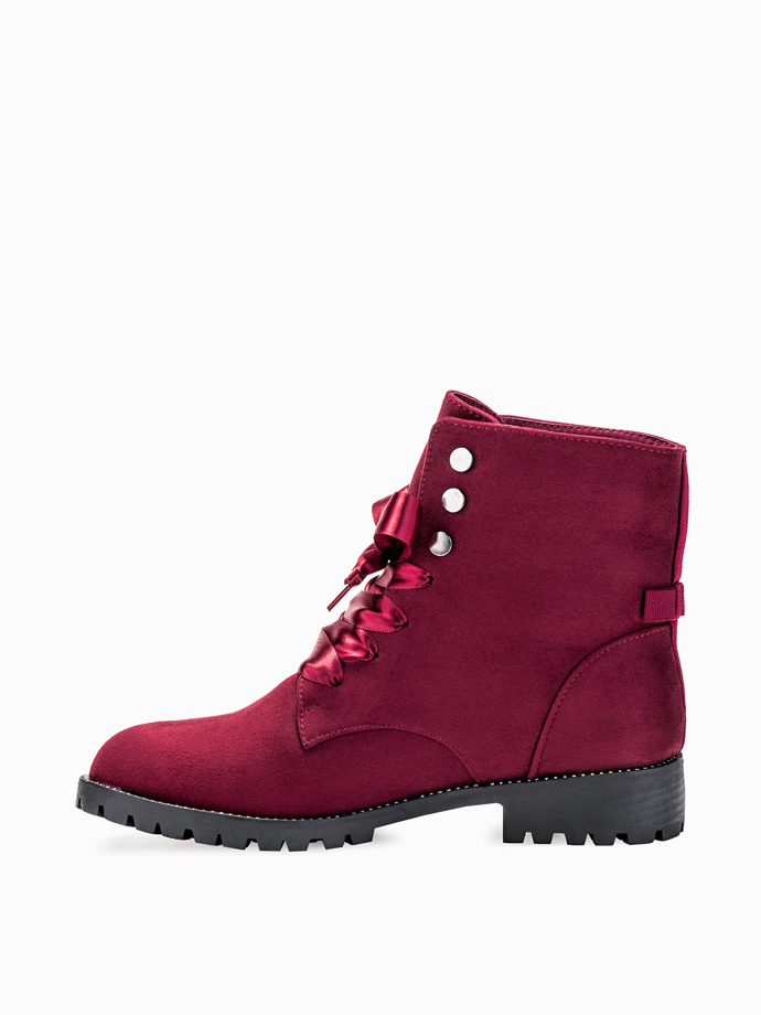 Burgundy ankle boots lr065