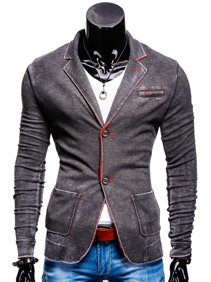 Casual men's blazer M48 - black