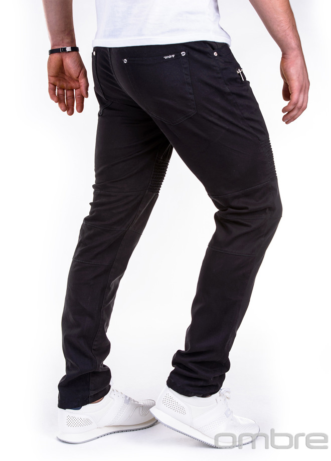 Casual men's pants P418 - black