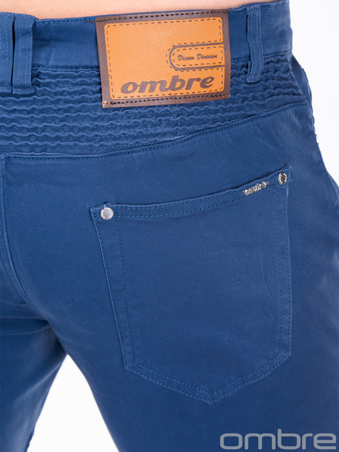 Casual men's pants P418 - navy