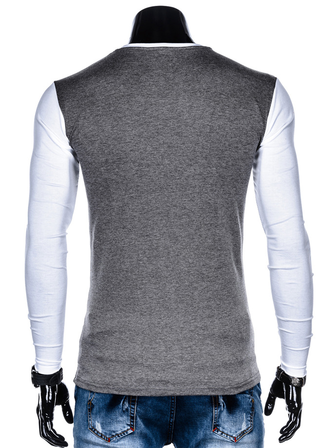 Men's plain longsleeve L108 - dark grey