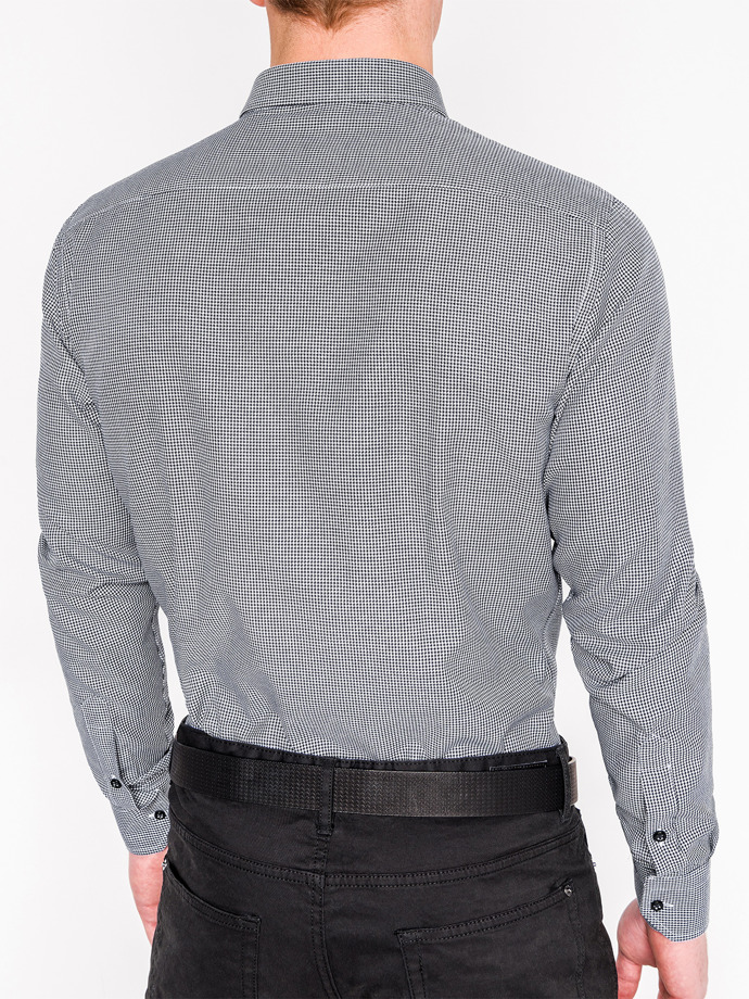 Long-sleeved elegant men's shirt K358 - black