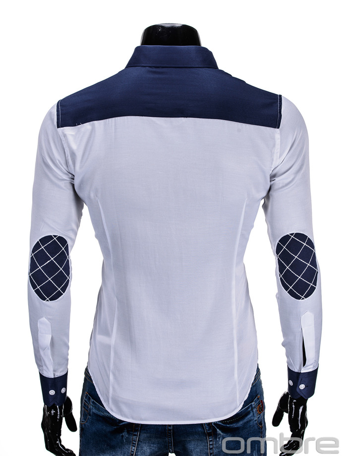 Long-sleeved men's shirt K167 - white