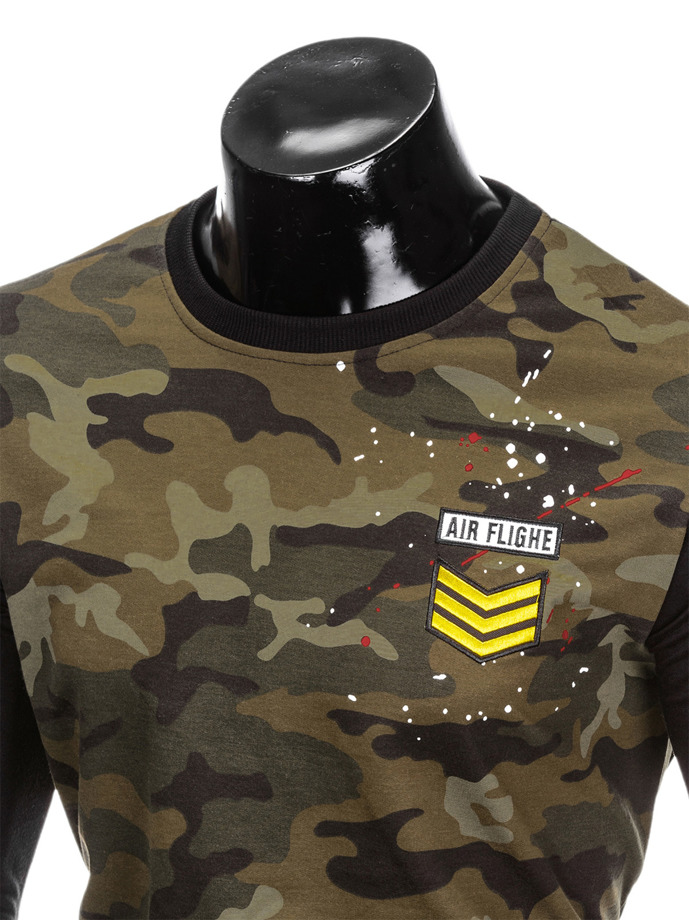 Men's camo sweatshirt B789 - black