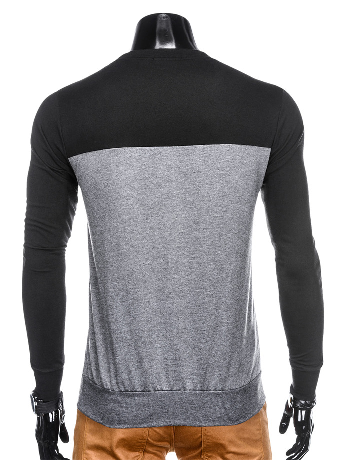 Men's printed SWEATSHIRTB785 - black/dark grey