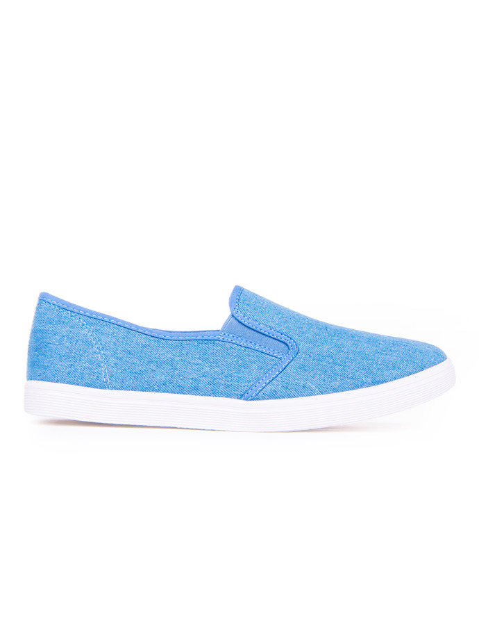 Men's slip-on trainers T109 - light blue