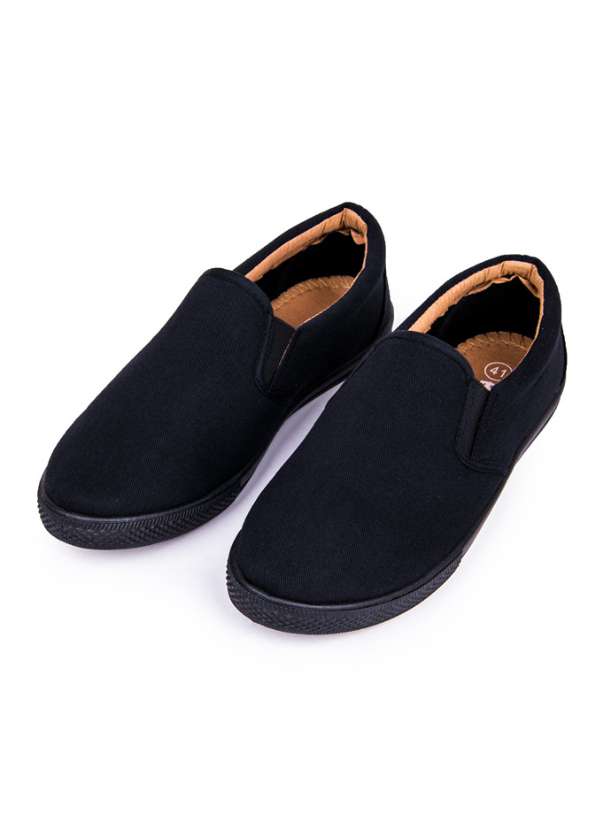 Men's slip-on trainers T120 - black