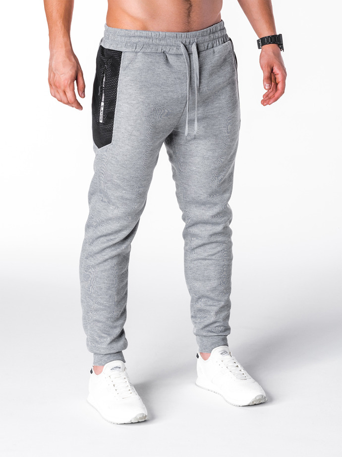 Men's sweatpants P691 - grey