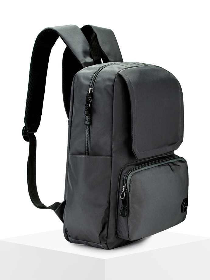 Men's backpack A145 - dark grey