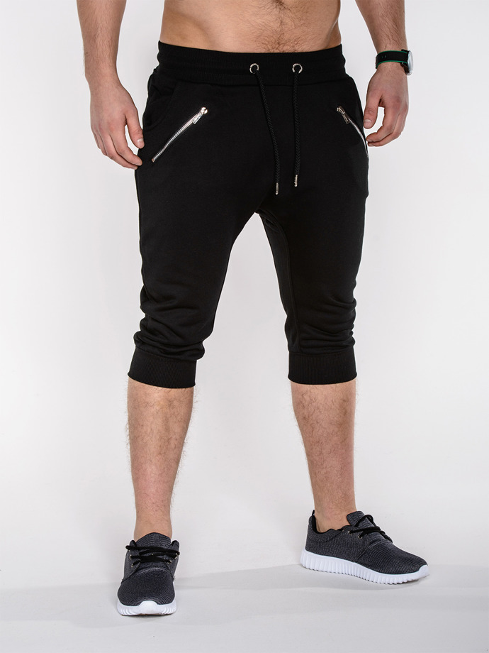Men's baggy sweatshorts P282 - black