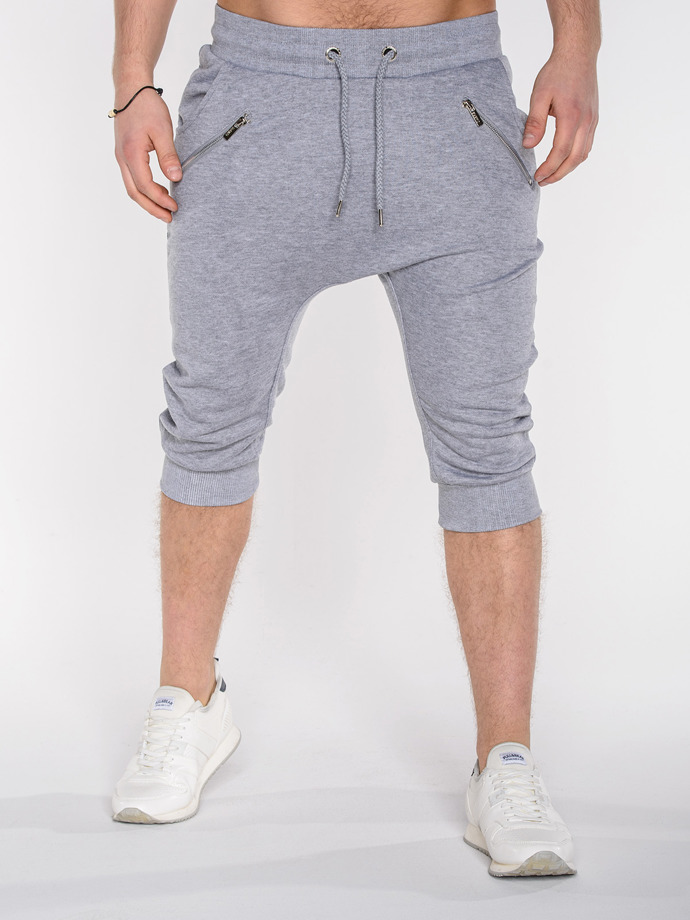 Men's baggy sweatshorts P282 - grey
