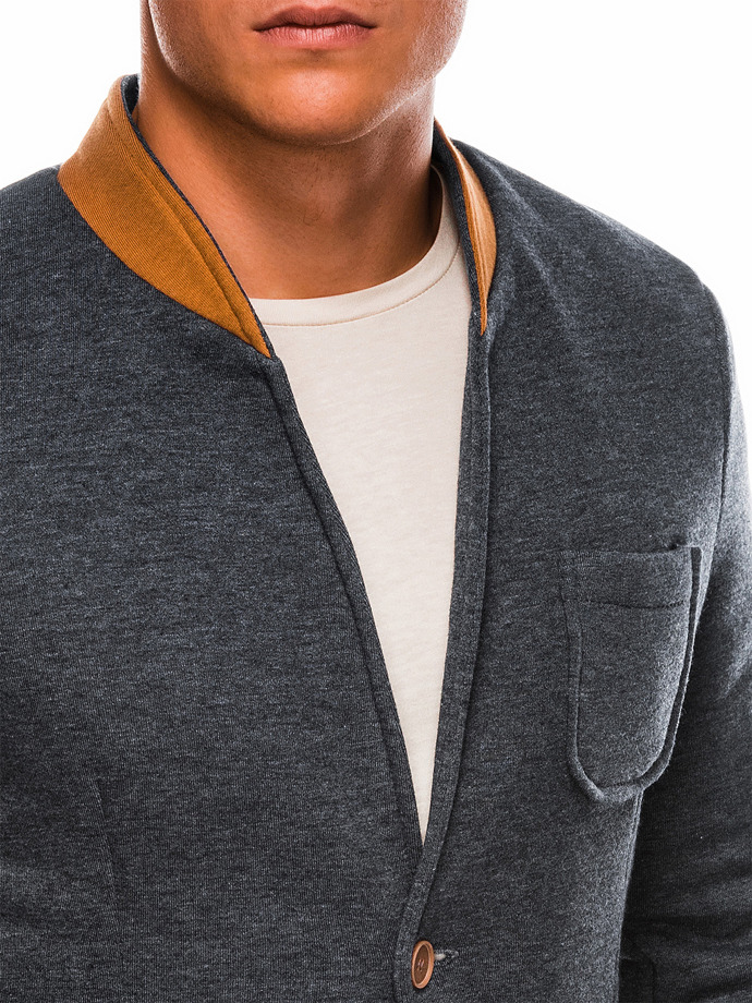 Men's casual blazer jacket M07 - dark grey