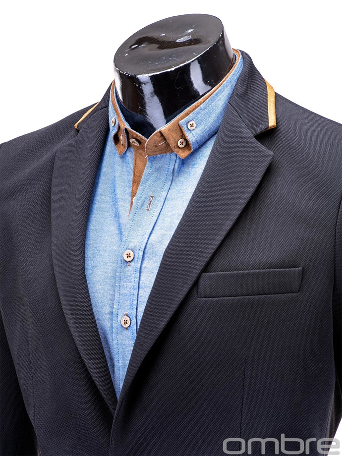 Men's casual blazer jacket M10 - black