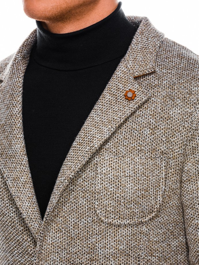 Men's casual blazer jacket M158 - brown