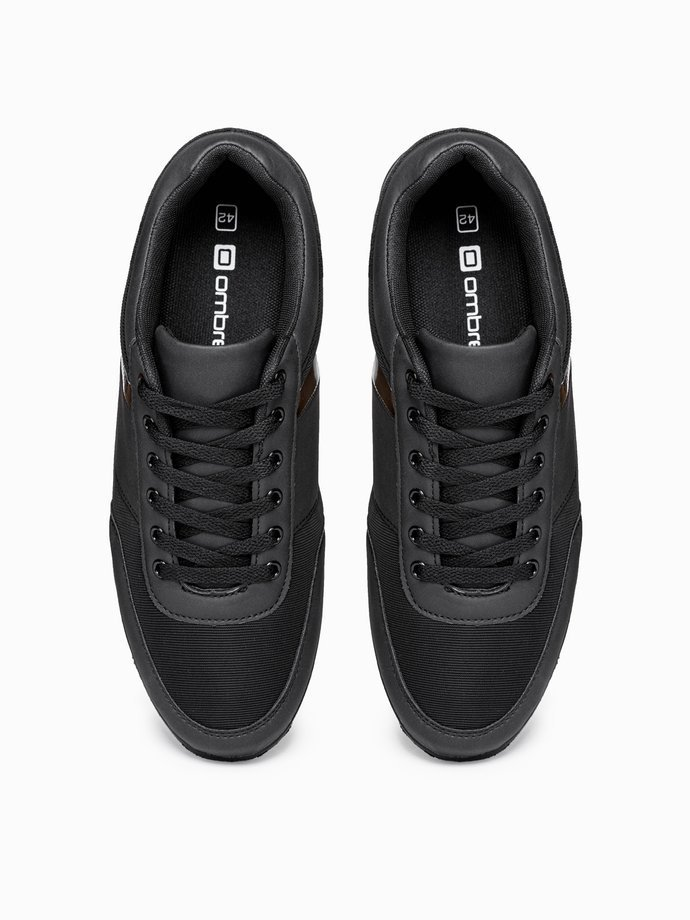 Men's casual sneakers T338 - black