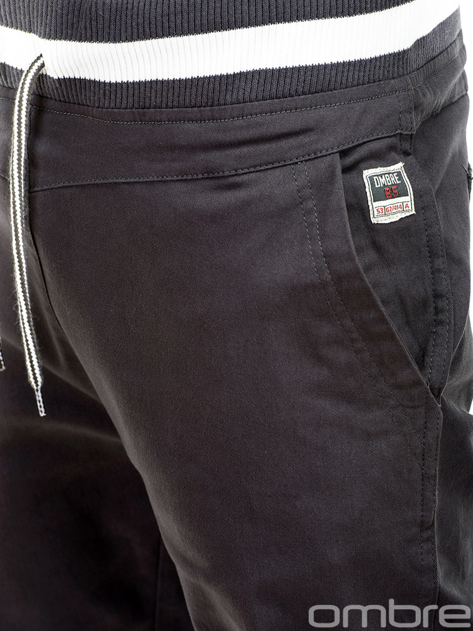 Men's chino pants P155 - dark grey
