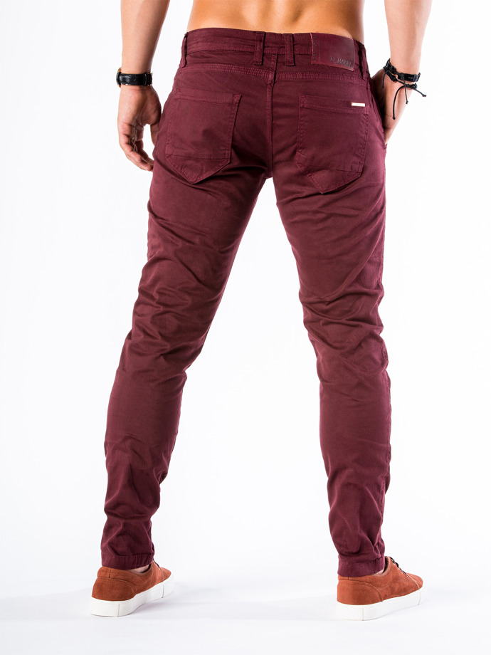 Men's chino pants P544 - burgundy