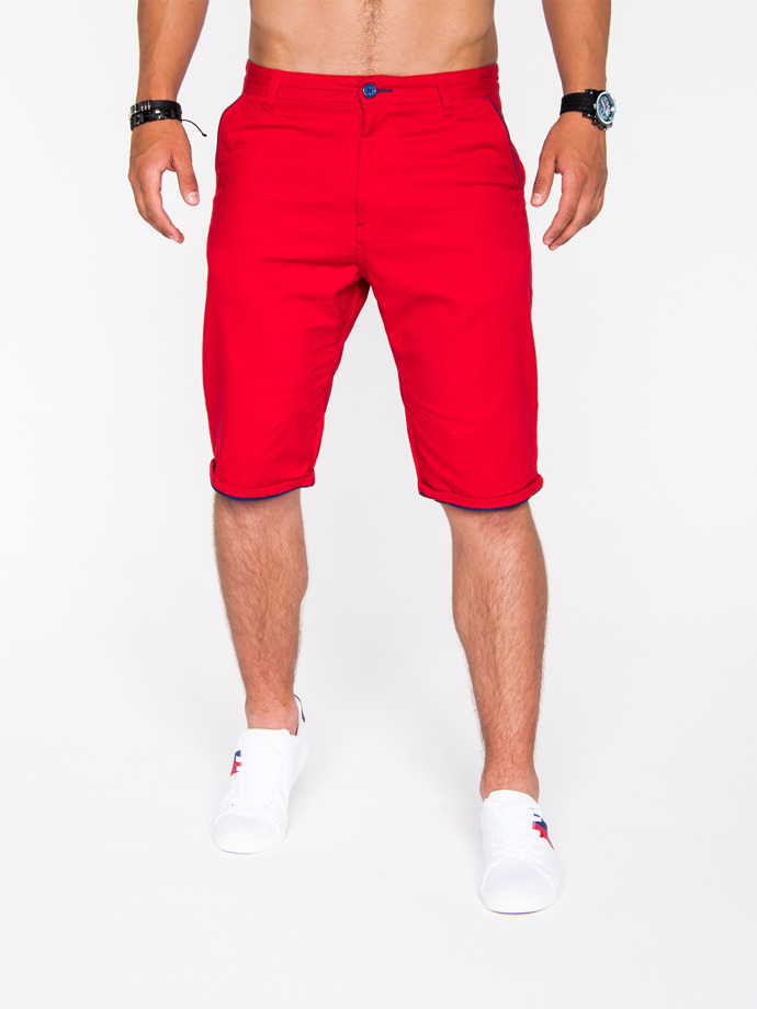 Men's chino shorts P520 - red