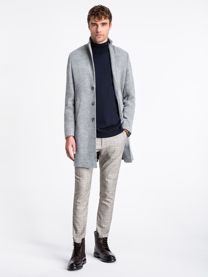 Men's coat C425 - grey