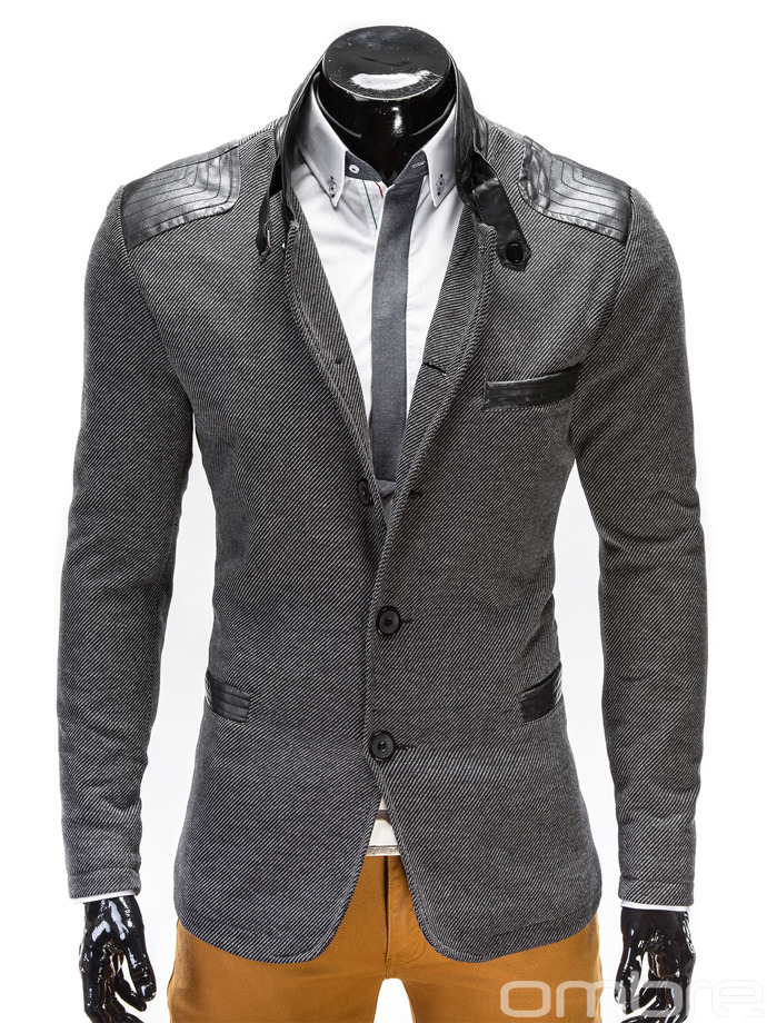 Men's coat C95 - dark grey