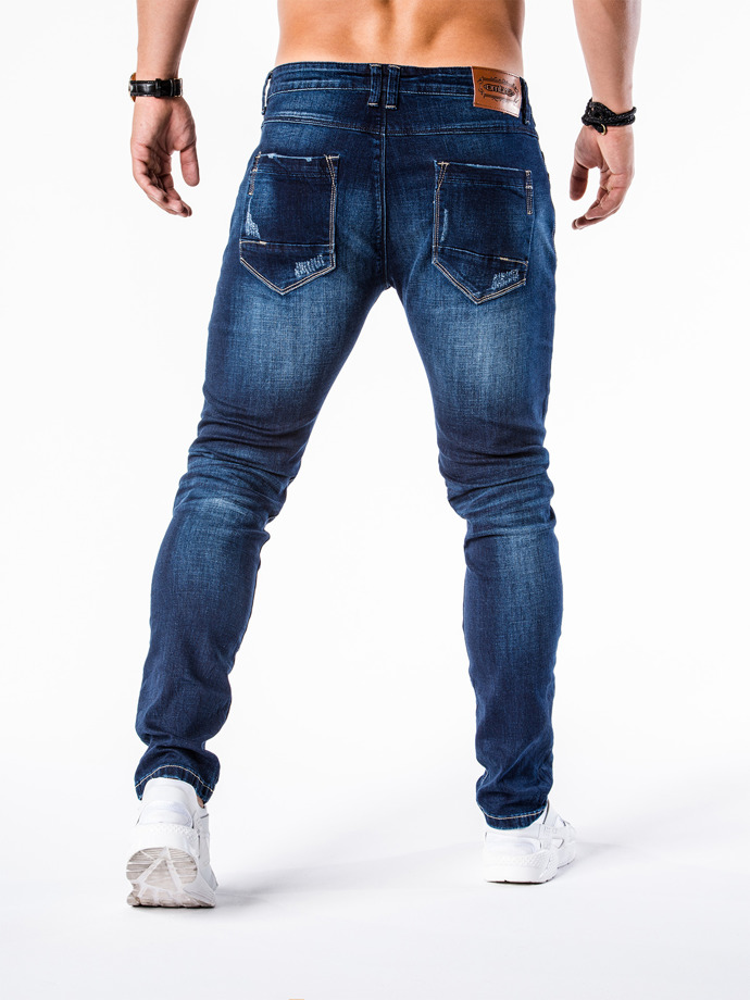 Men's denim pants P571 - navy