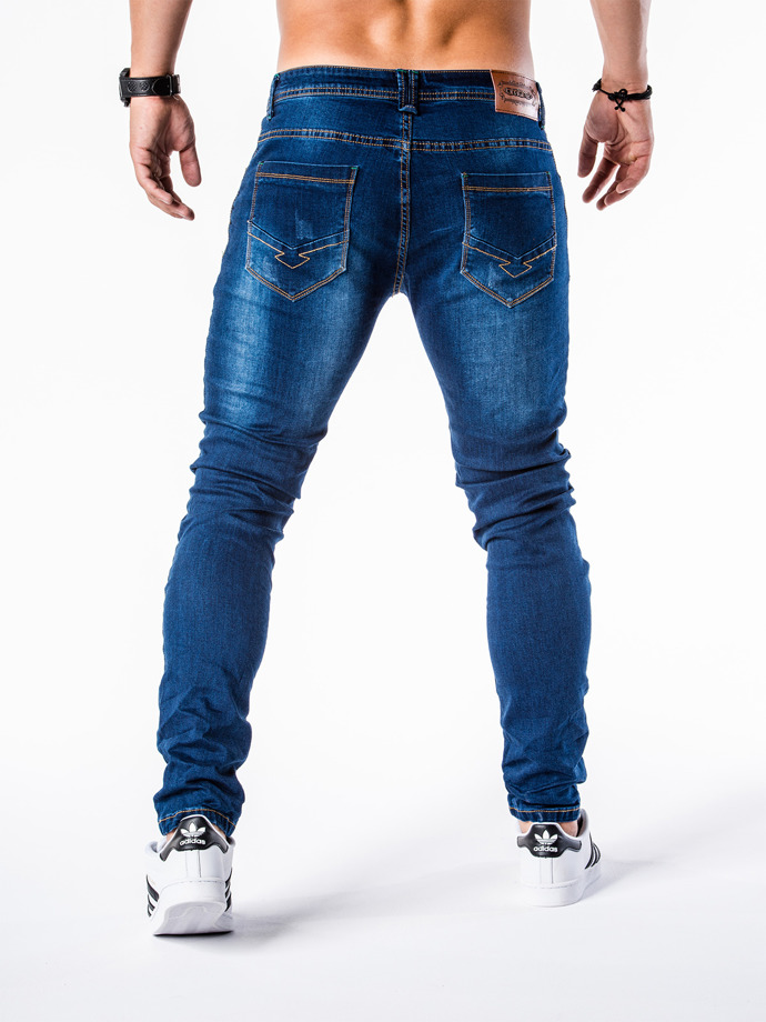 Men's denim pants P572 - blue