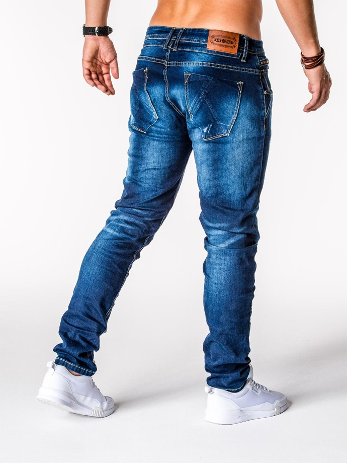 Men's denim pants P591 - navy
