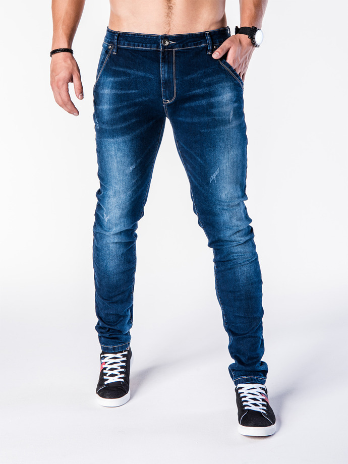 Men's denim pants P598 - navy