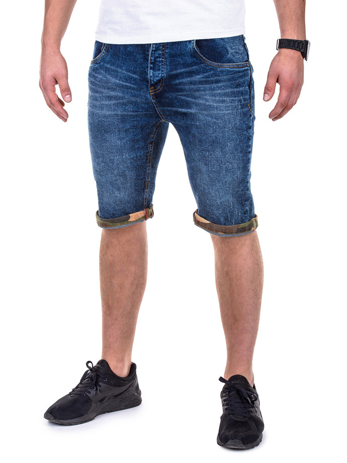 Men's denim shorts P415 - blue