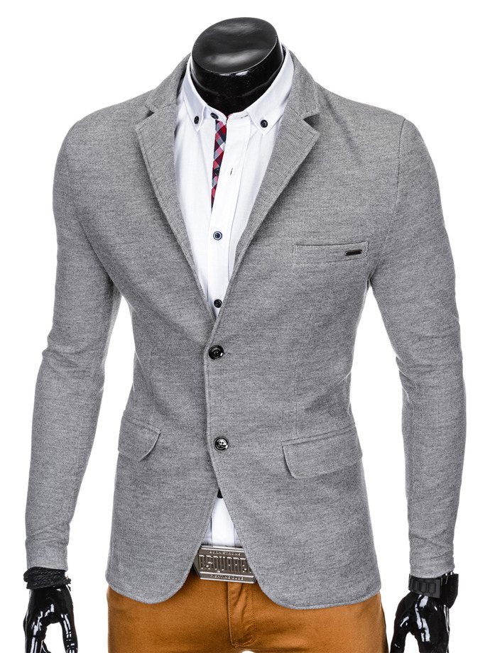 Men's elegant blazer jacket M83 - grey