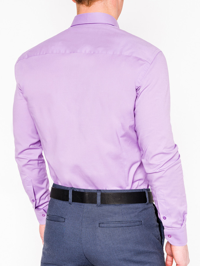 Men's elegant shirt with long sleeves K219 - lilac