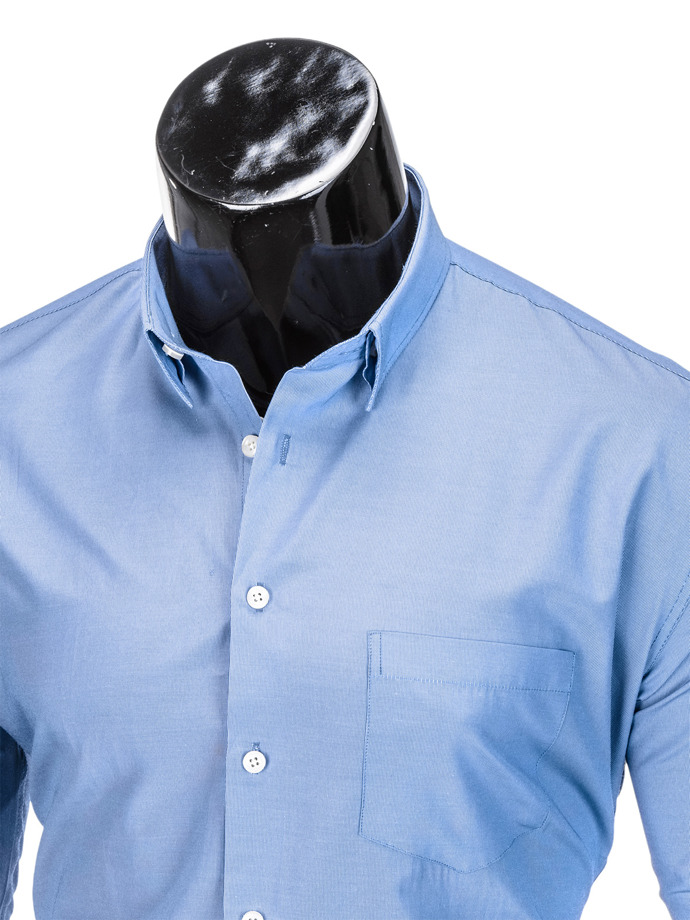 Men's elegant shirt with long sleeves K391 - blue