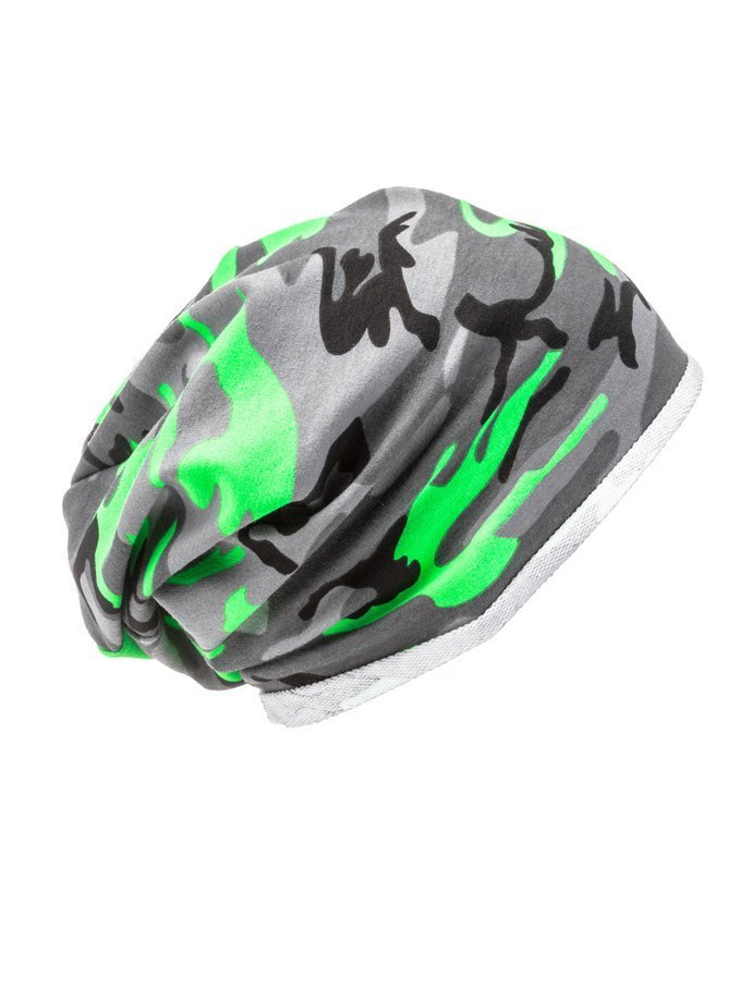 Men's hat H026 - green/camo
