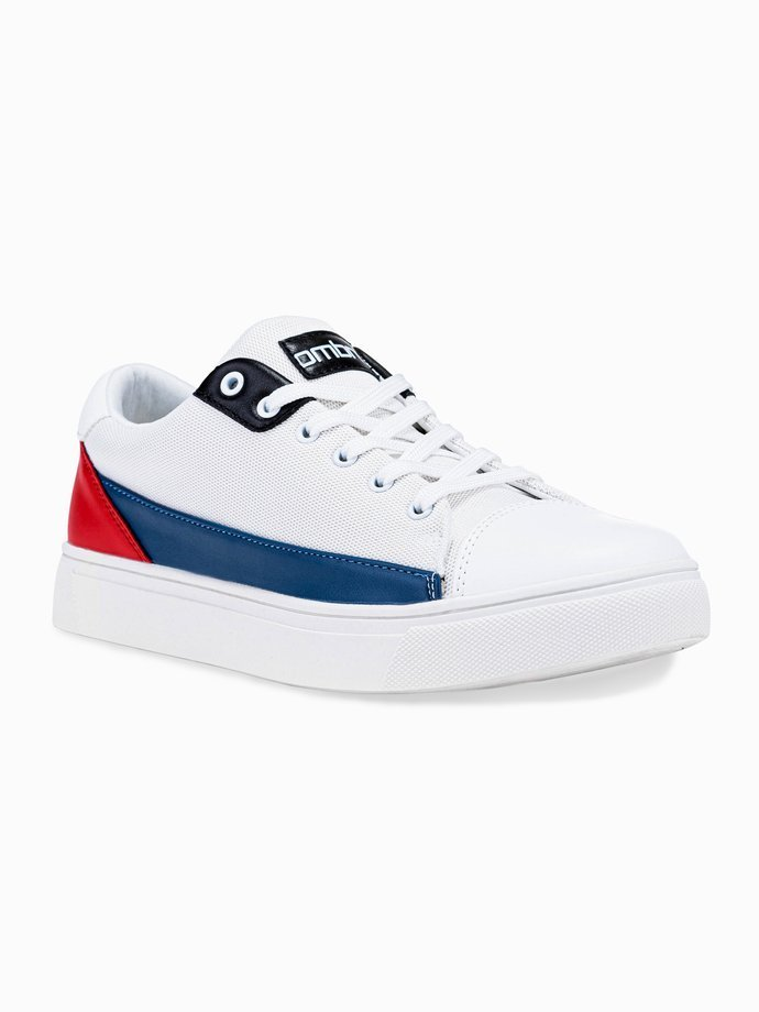Men's high-top trainers T339 - white