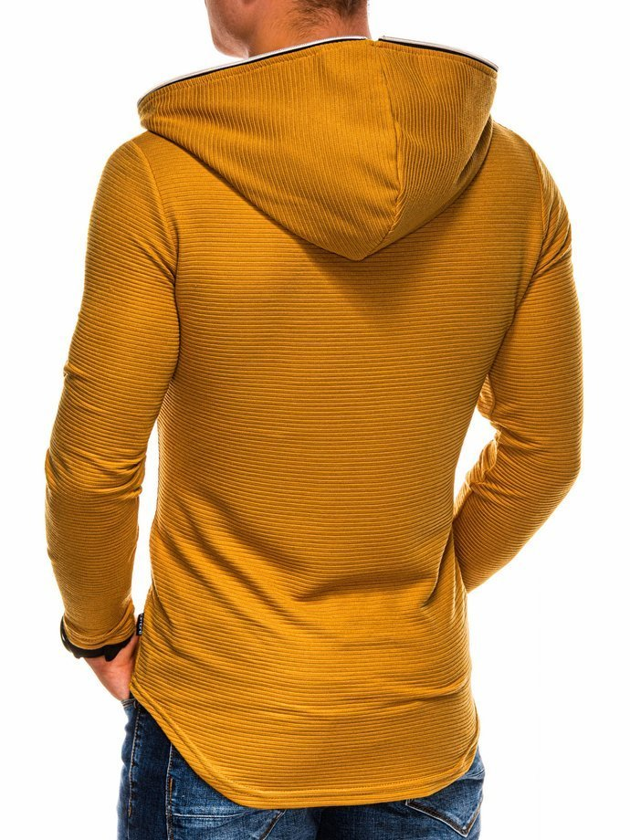 Men's hooded sweatshirt B1020 - mustard