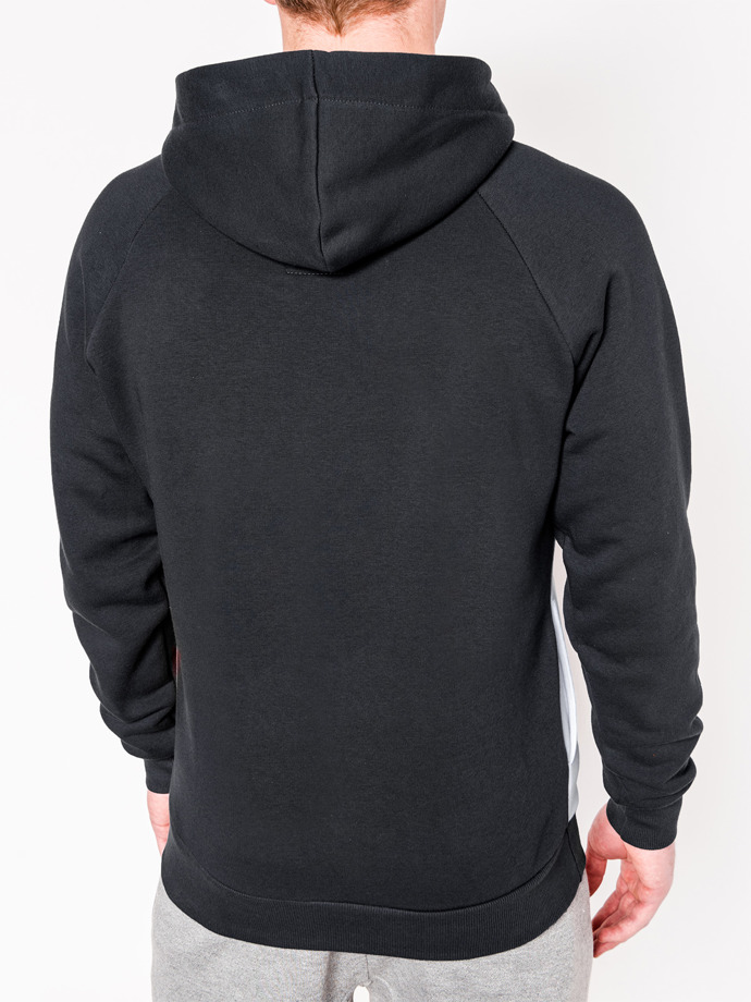 Men's hoodie MIGUEL - dark grey/orange
