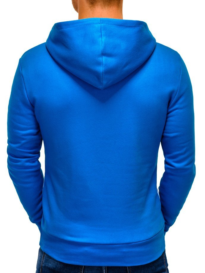 Men's hoodie PACO - turquoise/white