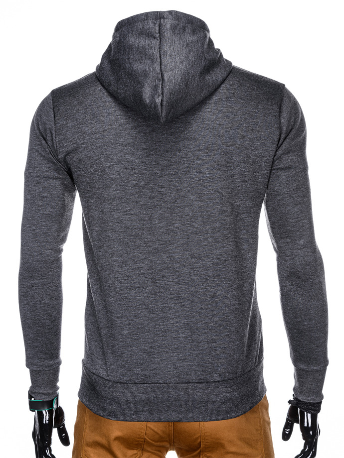 Men's hoodie with zipper B794 - graphite grey