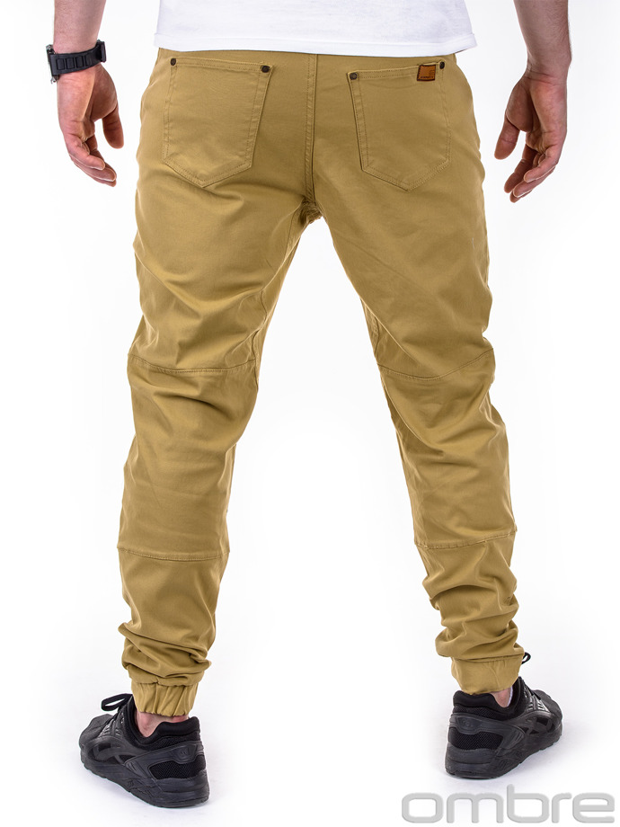 Men's jogger pants P417 - beige